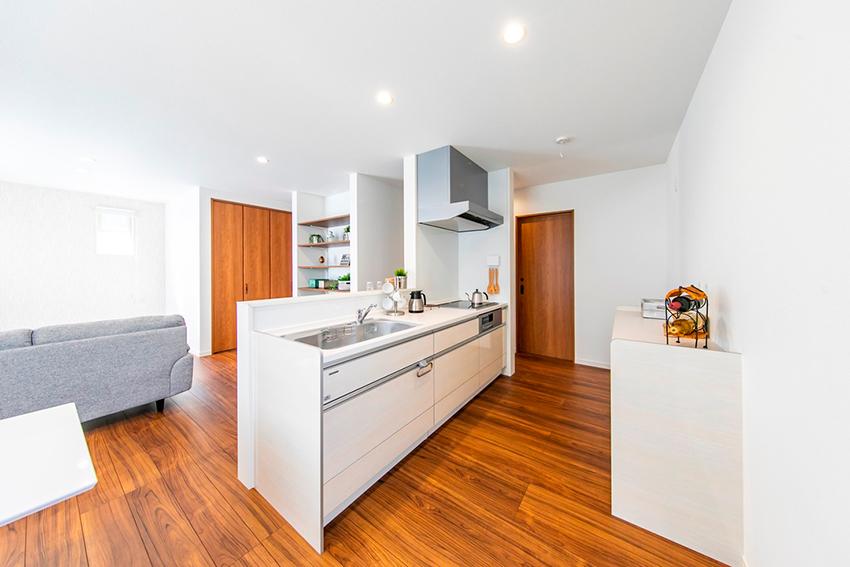 開放感のある広いキッチン