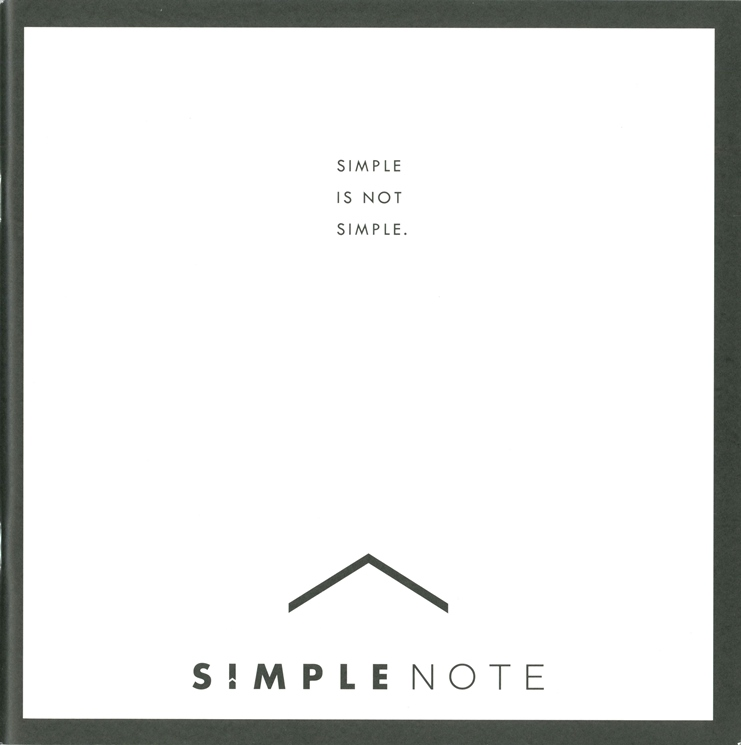 SIMPLE NOTE (シンプルノート) カタログ